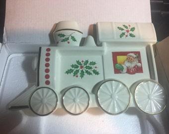 Lenox - Holiday Train Spoon Rest or Wall Hanging - Locomotive - Steam Engine - Original Box