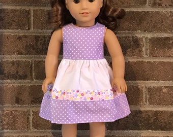 Spring dress for 18 inch doll (fits American  Girl Dolls)