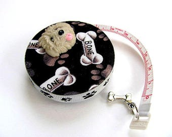 Tape Measure with Bones and Dog Paws Retractable Tape Measure