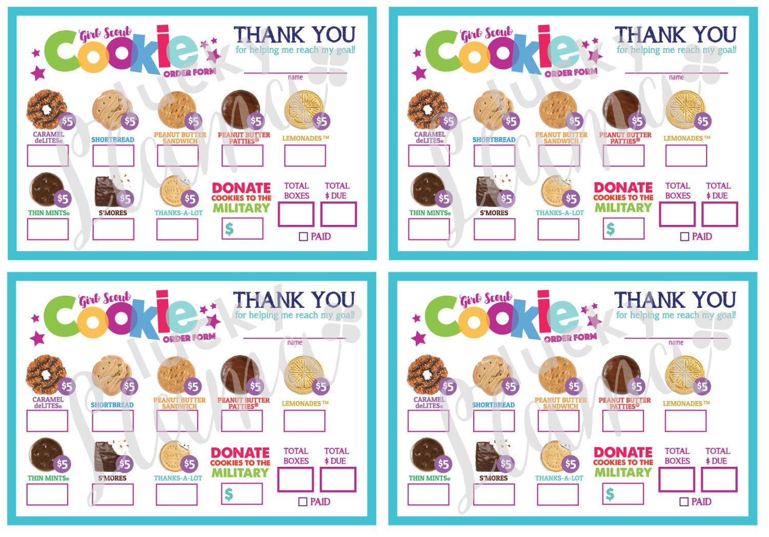 It's just an image of Irresistible Girl Scout Cookie Order Form Printable
