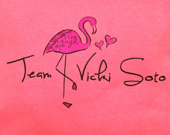 Adult-Team Vicki Soto Goes PINK, get your limited edition bright pink hoodies today.
