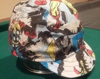 avengers three panel cycling cap
