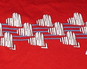 Vintage 1980s red Florida t-shirt medium hearts