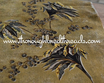Stunning Dramatic Floral  - Vintage Fabric New Old Stock 50s 60s