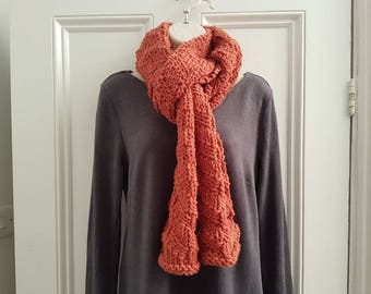 Chunky Orange Parallelogram Scarf
