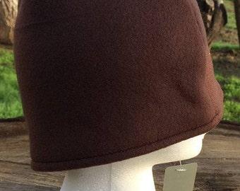 Brown Fleece Hat (Adult Medium)