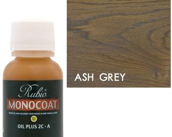 Rubio Monocoat Oil Plus 2C-A Sample Wood Stain Ash Grey