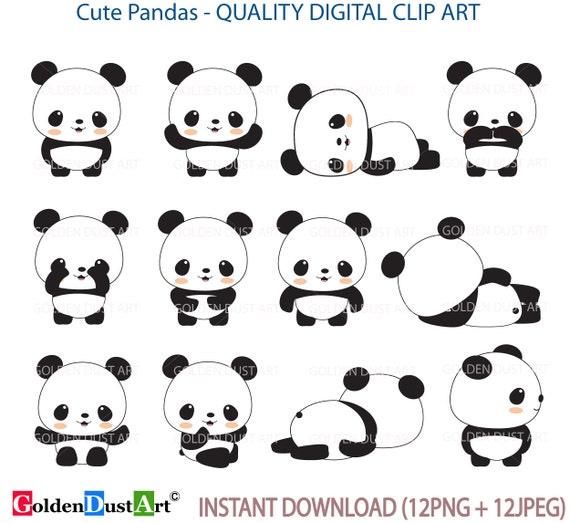 panda clip art panda clip art panda clipart cute panda rh etsy com cute panda clipart images cute panda clipart free