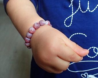 Baby Agate bracelet, protection bracelet baby. Beaded bracelet baby, agate for baby. Healing stone baby