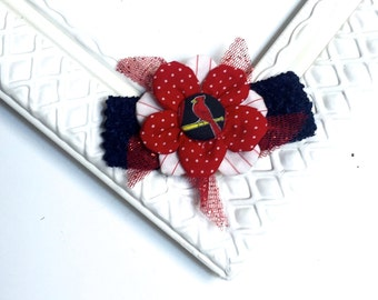 Cardinals Headband, Girls Headband, Elastic Headband, Baby Headband, Red and Blue