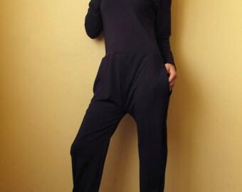 Jumpsuit / Black Jumpsuit / Loose Jumpsuit / Maxi black jumpsuit / Oversize jumpsuit / Plus size jumpsuit / Woman loose jumpsuit / Rompers