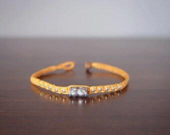 Thai bracelet/Beach bracelet/Colorful bracelet/Vintage bracelet/Artisan Bracelet/Boho bracelet/hippie bracelet/yellow bracelet/Tibetan brace