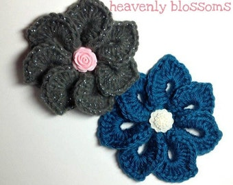 Vintage Style Blossom Brooch and Hair Clip - CUSTOMIZABLE