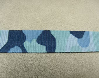 MILITARY camouflage - 1.5 cm - Blue Ribbon