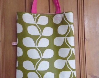 Oilcloth fabric bag