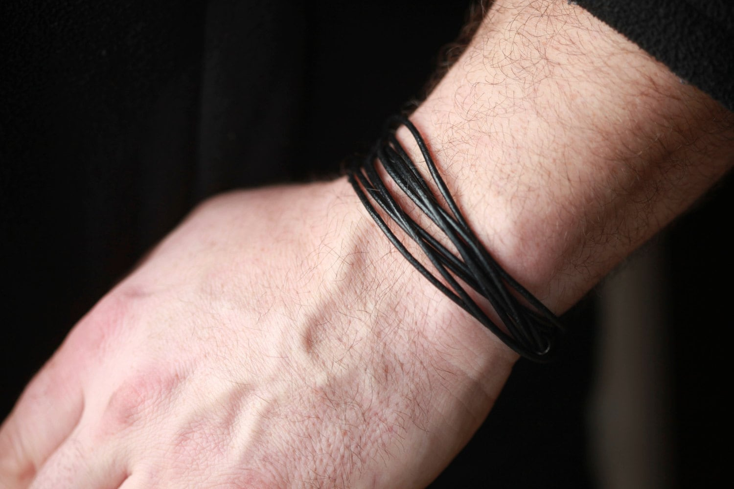 accessories mens steel men aliexpress pulseras bracelet store jewellery jewelry product com brand leather bracelets stainless from bangles buy trendy handmade black