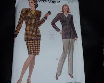 Vogue 8236 Jacket, Pants, Skirt Pattern  Size 6-8-10 New Uncut