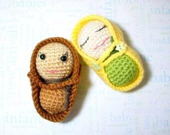 Amigurumi pattern - Pea / Peanut Baby - Crochet doll tutorial PDF