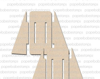 Easel Fibreboard Substrates Kit - Paperbabe Stamps - Coordinating MDF Shapes for mixed media and craft.