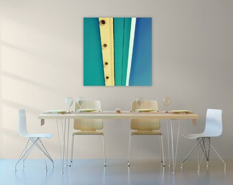 abstract canvas art // huge canvas // carnival photography // aqua blue abstract photograph - Bulbs