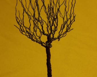 Old copper tree, wire tree