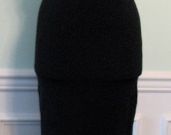 Vintage Dress Cut Out L.A.Glo Rhinestones LBD Long