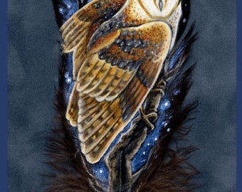 Barn Owl Feather Print