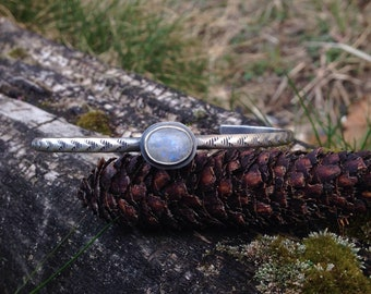 Moonstone Stacker Cuff - size M/L