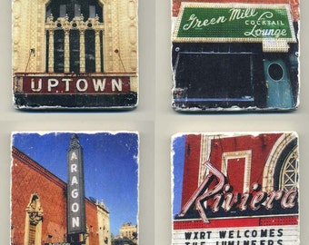Uptown Chicago Collection - 4 original coasters