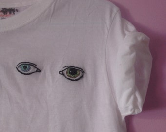 David Bowie Eyes hand-embroidered shirt