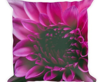 Pink Flower Square Pillow, Colorful Pillows, Colorful Home Decor, Flower Decor, Bohemian Home Decor