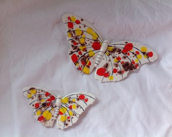 Vintage Loma Pottery Butterly Wall Decor Vintage Butterflies By Loma 1971