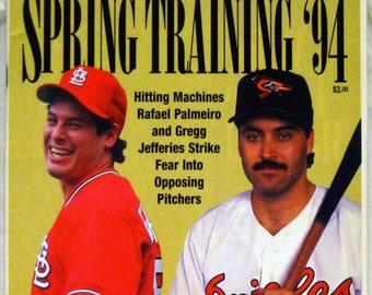 Spring Training '94 Program -Jeffries & Palmeiro