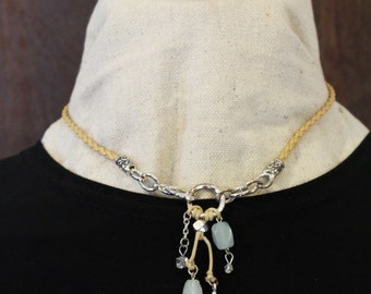 Beachy Braided Leather Necklace