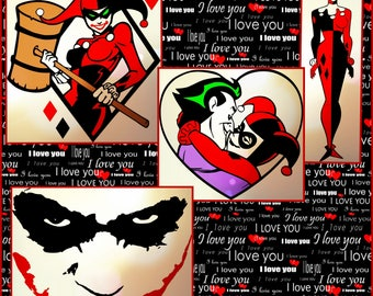 Harley Quinn and Joker SVG - Layered Harley Quinn and Joker SVG Files- Designs made for cricut and Silhouette