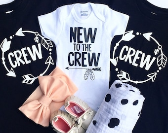 New to the crew and crew sibling set, Crew Shirts, New to the crew onesie