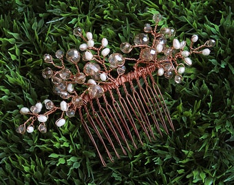 Bridal Hair Comb ~ wedding hair comb, bridal hair comb, bride accessory, wedding hairpiece, bridal comb, beaded hair comb, bridal ~ PENELOPE