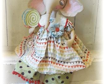 Elizabeth Elephant Doll ePattern Tutorial folkart