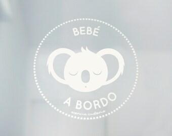"""Sticker for car """"Baby on-board Koala"""""""