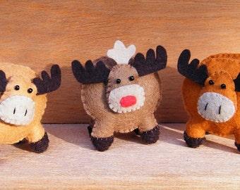 Kerstmis - Enige elanden - Engels patroonblad