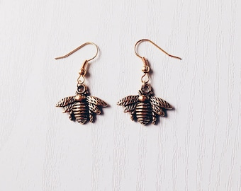 Gold Bee Earrings | Boho Jewelry | Bee Jewellery | Gift Idea