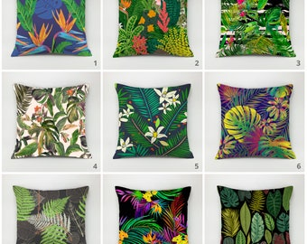 Tropical pillows cover Floral pillow Decorative pillow flower Throw pillow exotic cushion cover nature pillow botanical pillow accent pillow
