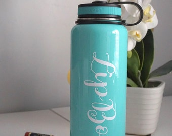 Personalized Sports Bottle Stainless Steel Eddy Water Bottle -40 oz Water Bottle Monogrammed Gifts Personalized Drinkware Gifts Lid Tumbler