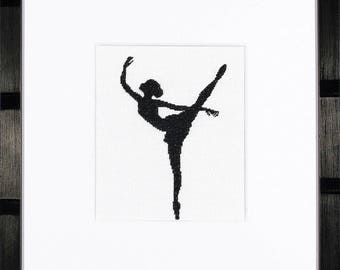Counted Cross Stitch Kit Ballet Silhouette 2