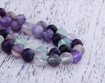 """Natural fluorite Beads ,Jasper Beads , Gemstone Beads , Round Fluorite Beads , Genuine Stone Beads  (size 6/8/10/12mm) 15.5"""" Strand"""