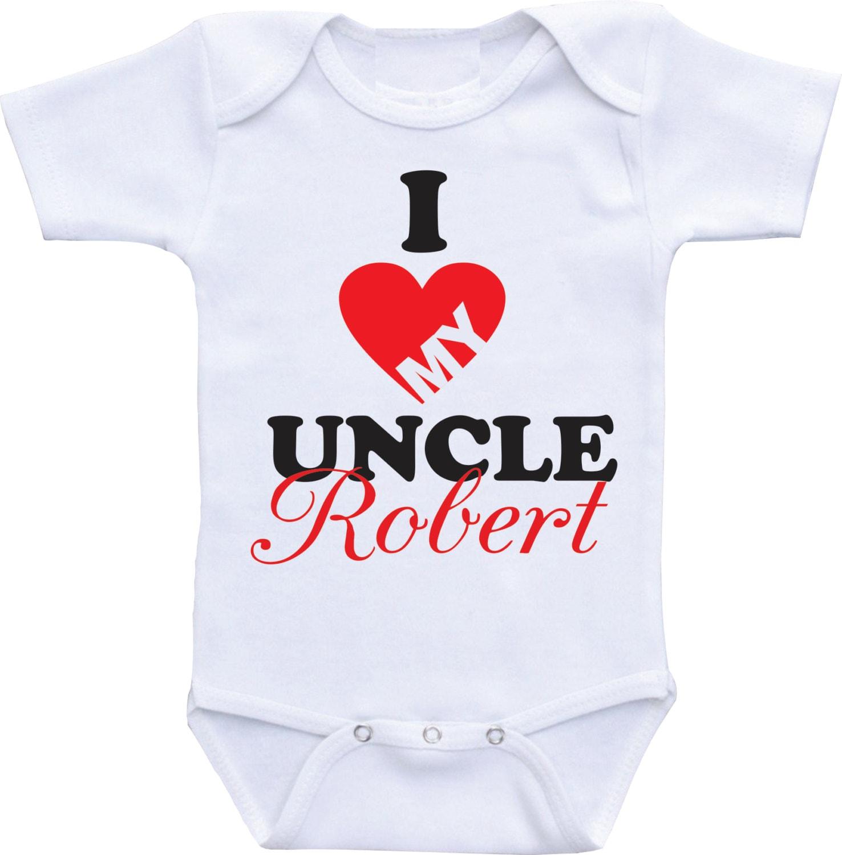 I love my uncle baby onsies Heart esie My uncle loves me
