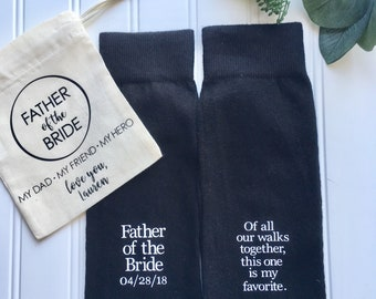 Father of the Bride socks, personalized father of the bride, father of the bride gift, father of the bride shirt, Wedding socks, wedding.
