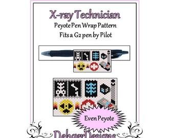 Peyote Beading Pattern (Pen Wrap/Cover)-X-ray Technician