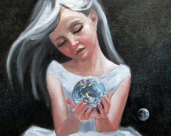 My World. signed Print of an Original Oil Painting