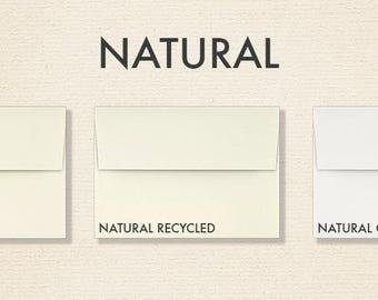 A1 Natural Invitation Envelopes w/Peel & Press (3 5/8 x 5 1/8) - Pick A Color - Quantity of 50